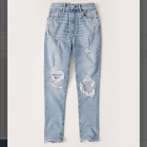 Abercrombie curve love high rise skinny jeans